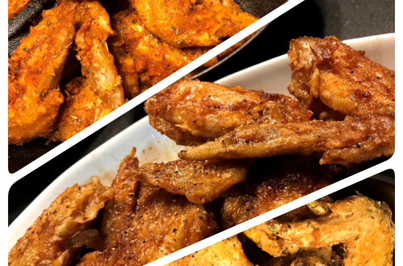 Crispy Saucy Chicken Wings