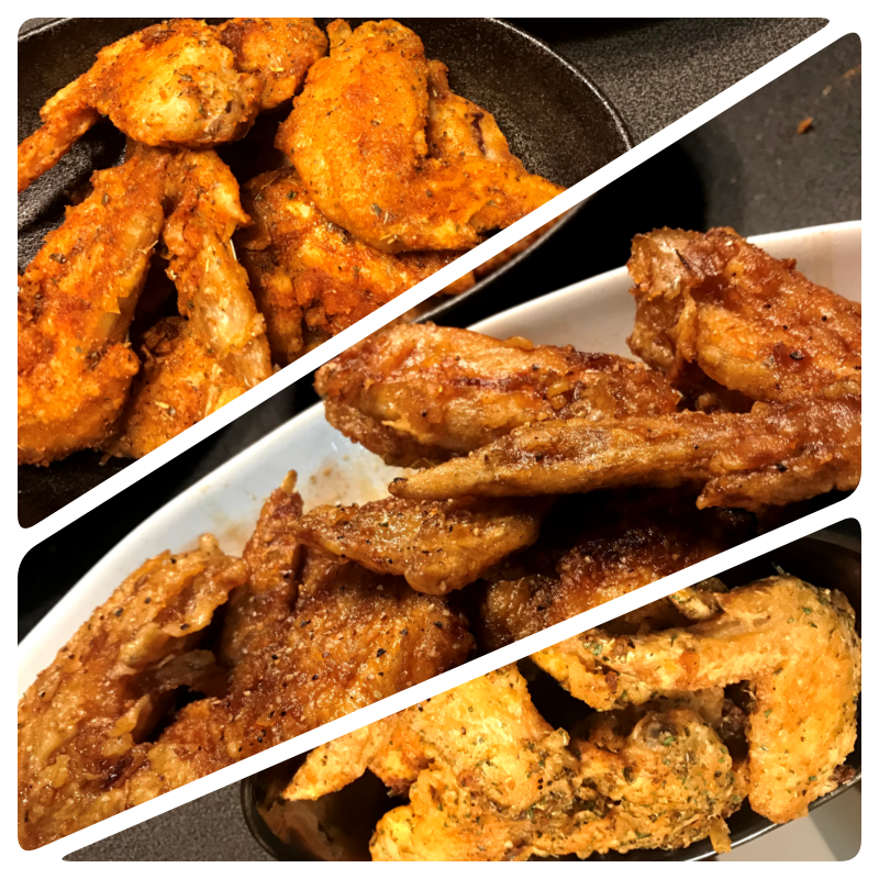 Crispy Saucy Chicken Wings