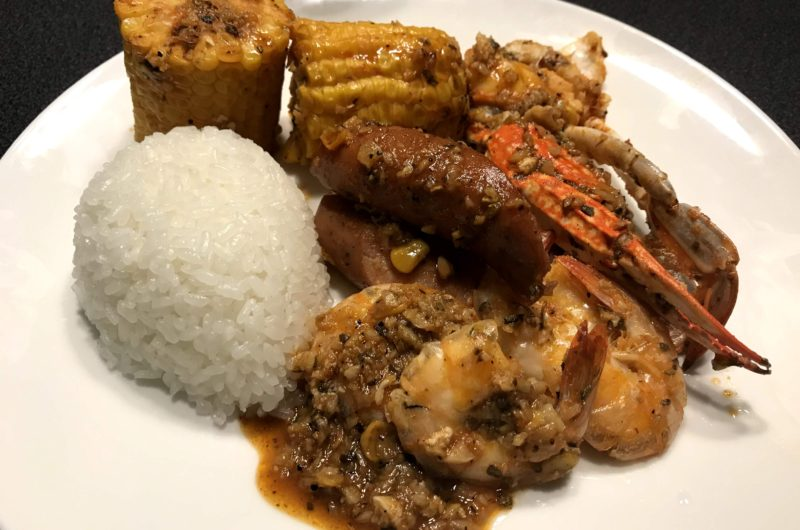 "Cajun Seafood ""Whole Sha bang"" Kicking/Dancing Seafood"