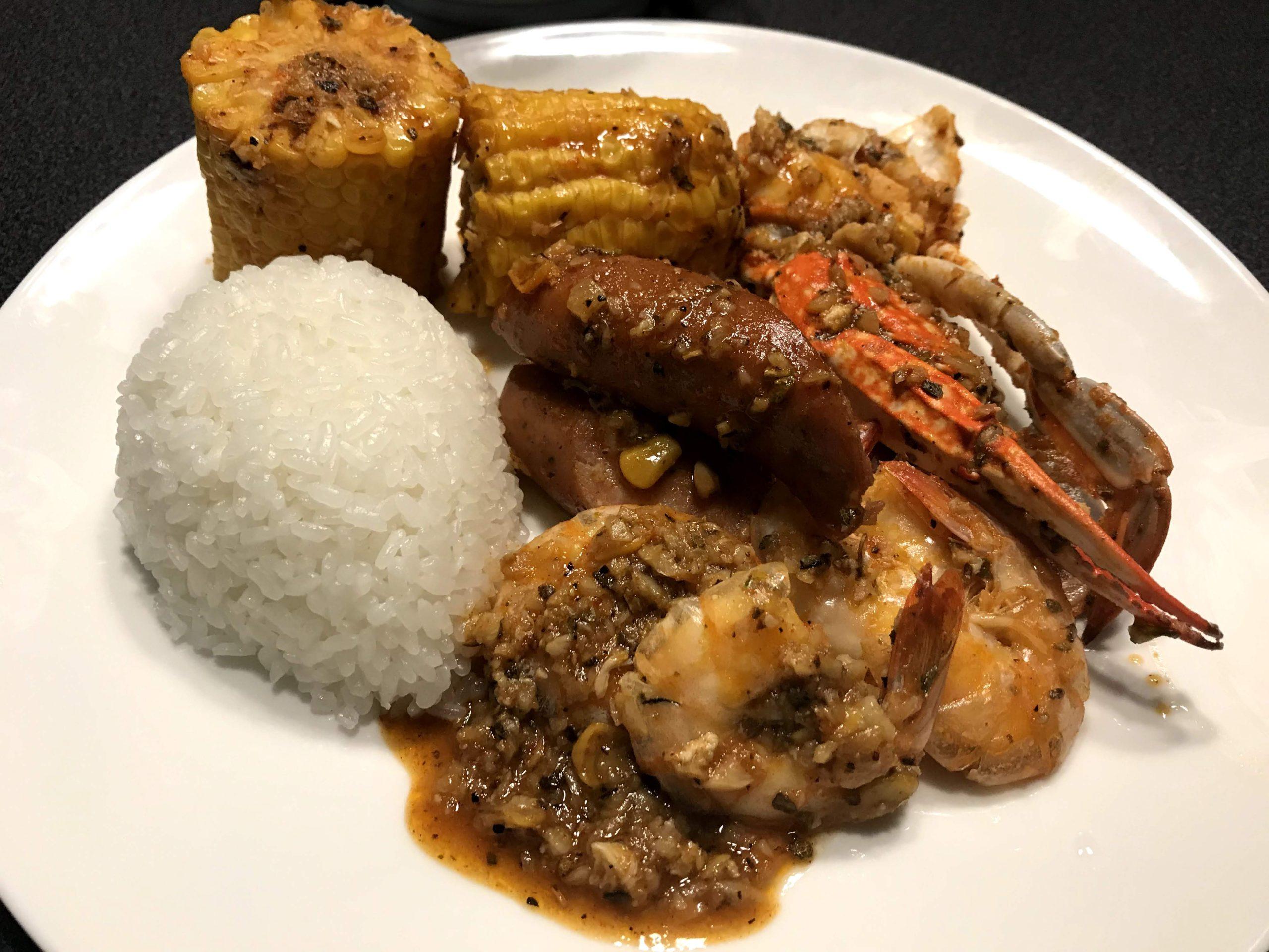 """Cajun Seafood """"Whole Shabang"""" Dancing Crab/Kicking Crab"""