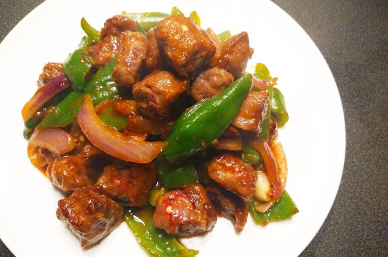 モンゴル風牛肉炒め