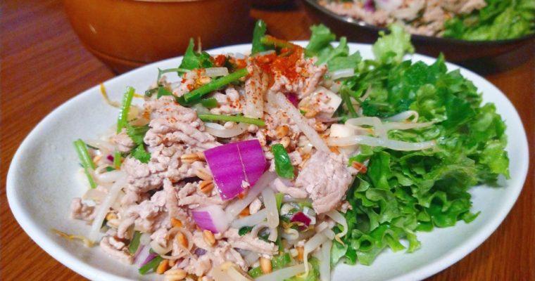 もち麦でヘルシーに!ラープムー(タイのひき肉サラダ)